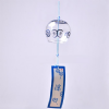 Glass Wind Chime, Blue Circle, 8cm